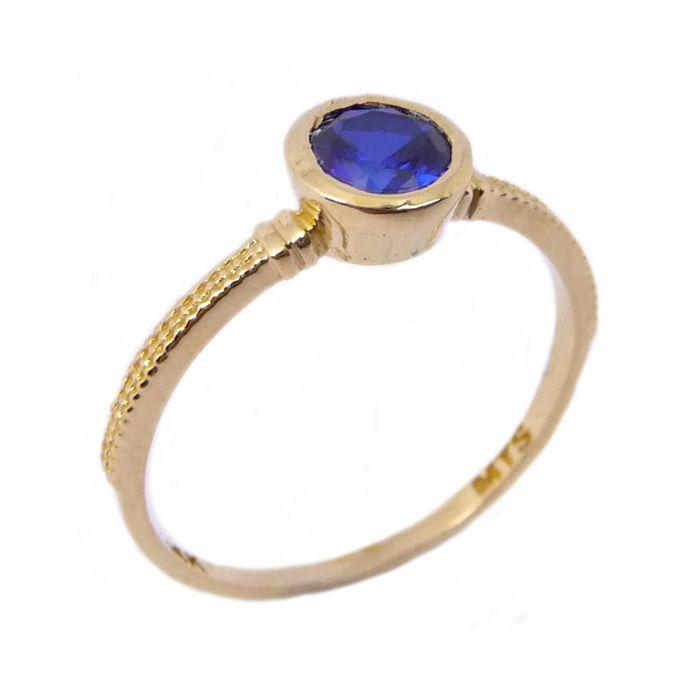 טבעת זהב 14K דקה