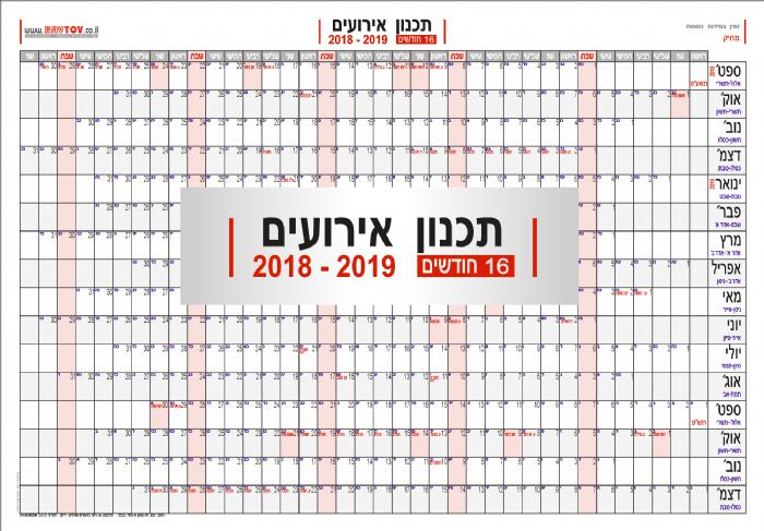 """תכנון שנתי מורחב ל- 16 חודשים תשע""""ט +2019"""
