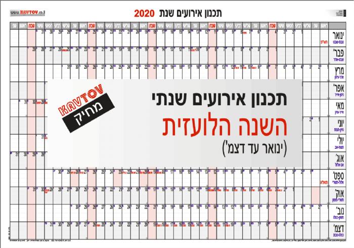 לוח תכנון שנת 2020