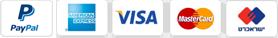מכבדים כרטיסי אשראי ו PAYPAL
