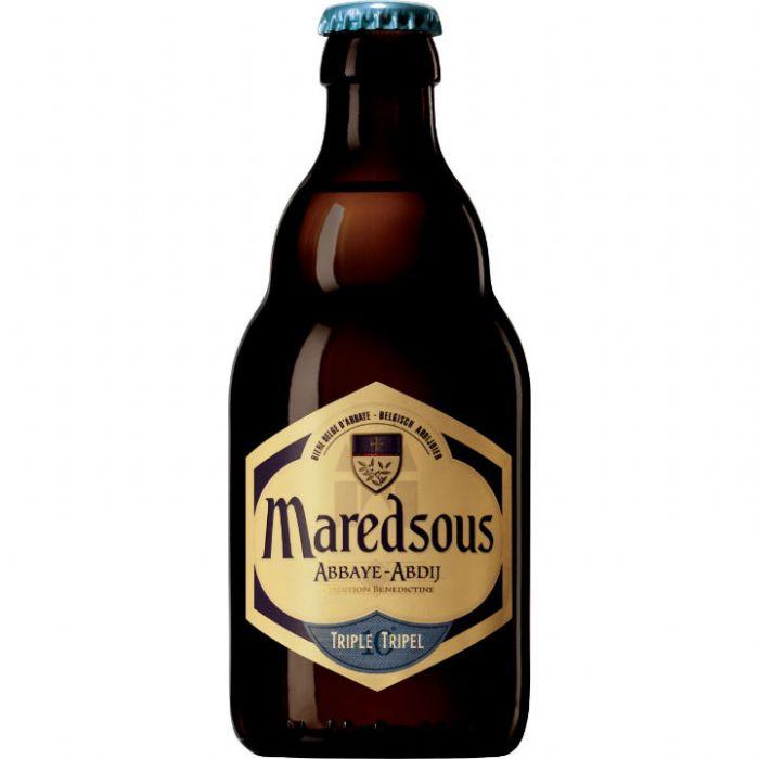 תמונה של רביעיית בירה  מרדסו טריפל Maredsous Triple 330ml