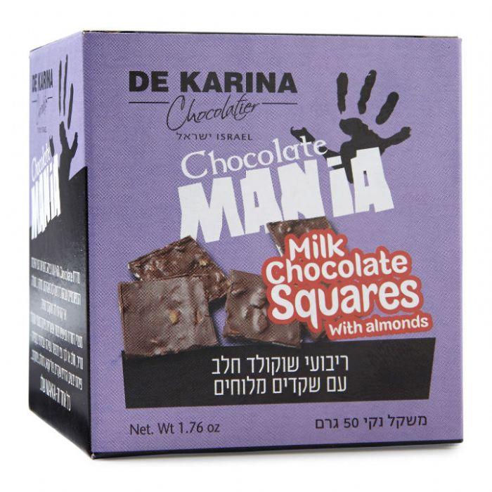 תמונה של Chocolate Mania ריבועי שוקולד חלב עם שקדים מלוחים