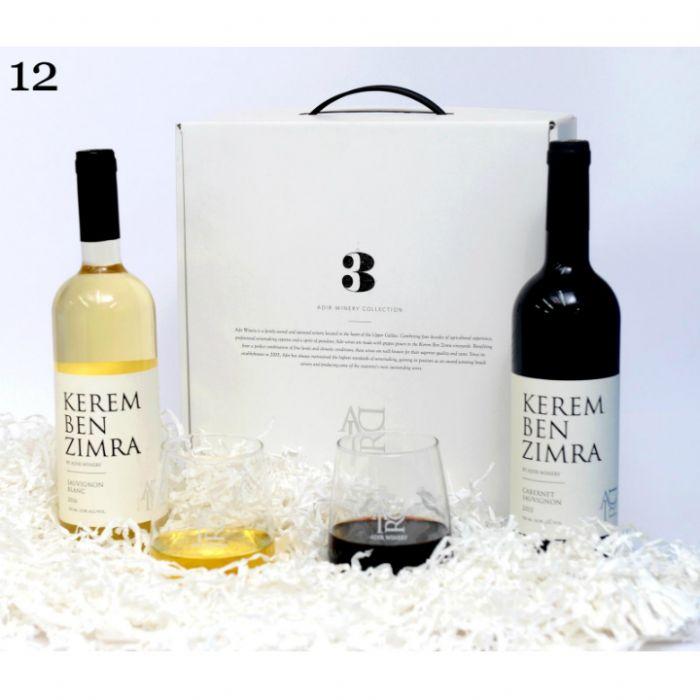 תמונה של 12 מארז יינות אדיר וכוסות