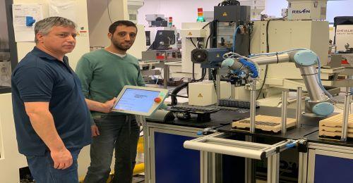 רובוט שיתופי שולב בחברת ורגוס הישראלית המספקת   פתרונות וכלים מתקדמים בתחום העיבוד השבבי המדויק עבור תעשיית המתכת