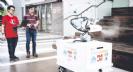 קובוט חצי אוטונומי, המצויד בגלגלים, חיישנים ומצלמות, יסייע בחיטוי שטחים גדולים לשמירה על בריאות העובדים