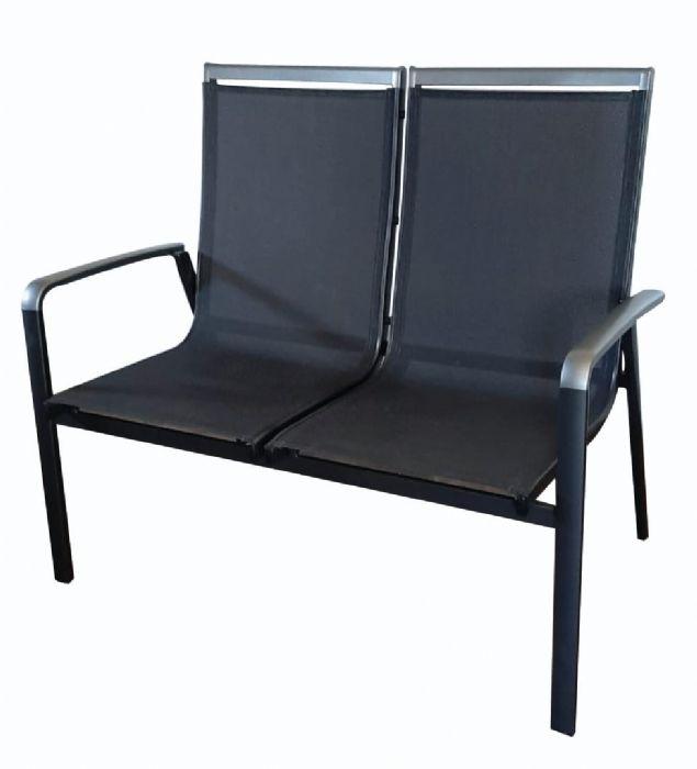 ספסל אלומיניום זוגי