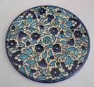 Decorative Ceramic Plate - Flower Pattern