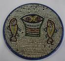 Ceramic Decorative Plate - Tabgha Fish Mosiac