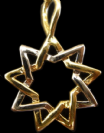 Sterling silver and Gold filled 9 point star pendant