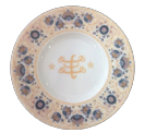 Porcelain Plate with Golden Ringstone Symbol