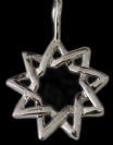 Silver Plated 9 Point Star Pendant