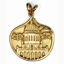 14K Gold Pendant with both symbols