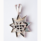 Small Silver 9 point star pendant with RingStone symbol