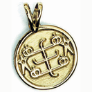Round Gold pendant with symbol
