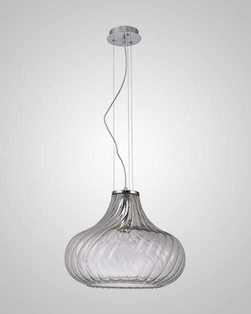 מנורת תליה זכוכית פליסה