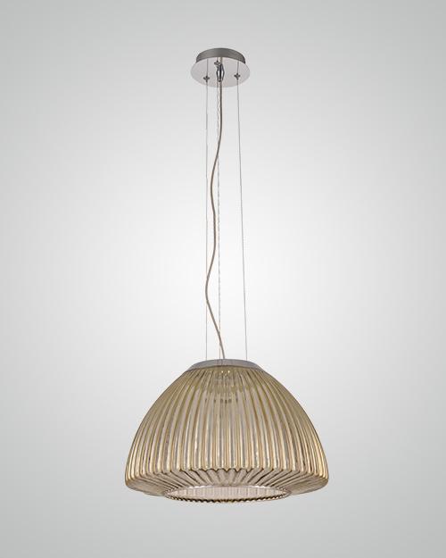 מנורת תליה זכוכית מחורצת