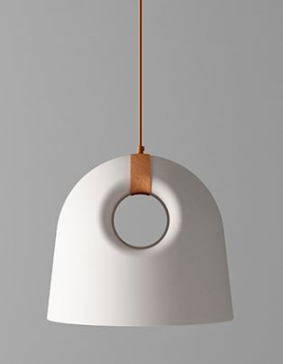מנורת תליה טבעת עור