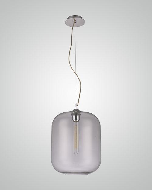 מנורת תליה צילינדר זכוכית.