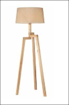 מנורת עמידה עץ.
