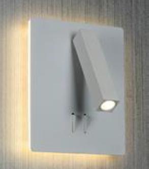 מנורת קריאה 3 מצבים בסיס מרובע