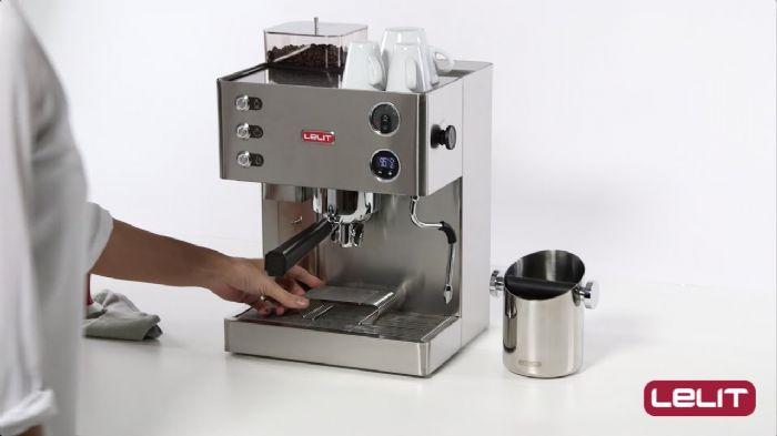 מכונת קפה משולבת מטחנה Lelit Kate - PL82T