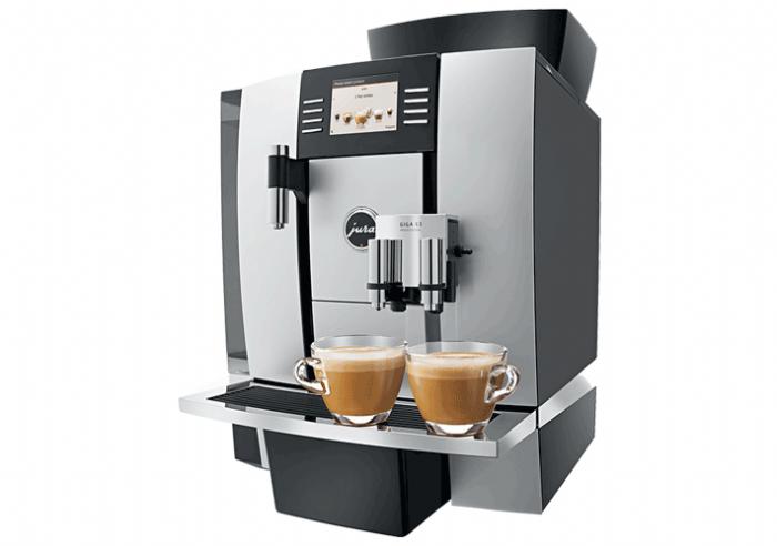 JURA GIGA X3ה- GIGA X3 מציבה רף חדש בענף מכונות הקפה בכל הקשור בביצועים, אסתטיקה ושלמות.  היא מצליחה להכניס טכנולוגיה מקצועית אל תוך משרדם של אלו הדורשים עמידה בסטנדרטים הגבוהים ביותר. המכונה מצוידת ב