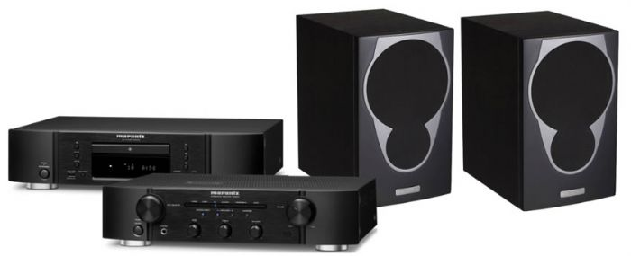 מערכת סטריאו  Marantz PM5005+Marantz CD5005+Morel Solan