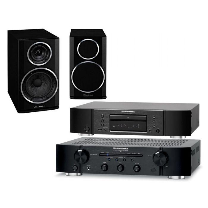 מערכת סטריאו  Marantz PM5005+Marantz CD5005+Wharfedale D210