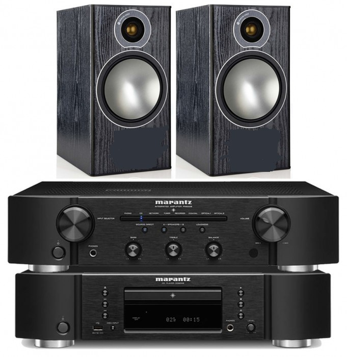 מערכת סטריאו Marantz PM5005+CD CD5005 +Monitor Audio Bronze1