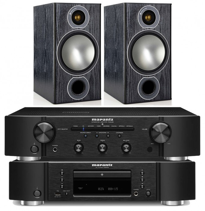 מערכת סטריאו Marantz PM5005+CD CD5005 +Monitor Audio Bronze2