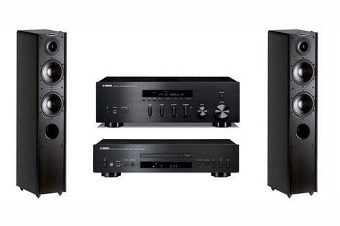 מערכת סטריאו yamaha RS202+Yamaha cds300+Wharfedale D230