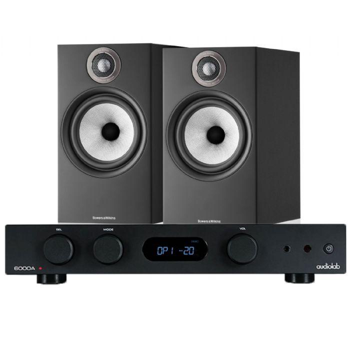 מערכת סטריאו AudioLab 6000A+B&W 606