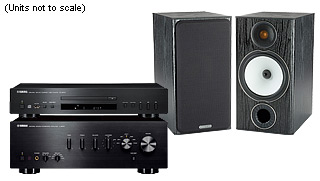 מערכת סטריאו Yamaha AS201+Yamaha CDS300+Monitor Audio MR100