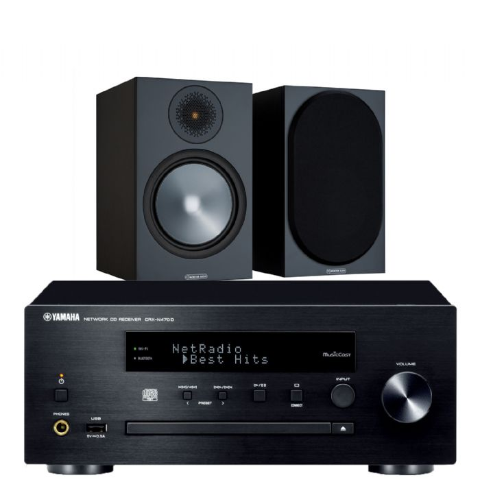 מערכת סטריאו Yamaha MCRXN470+Monitor Audio Bronze50