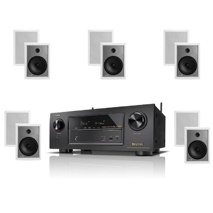 קולנוע ביתי Denon AVRX550+Emphasys iw6.0 set