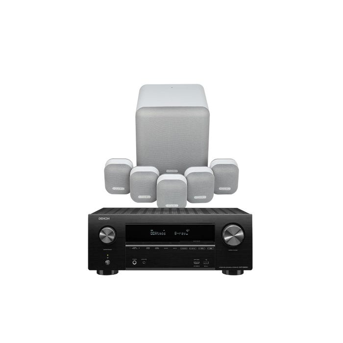 קולנוע ביתי Denon AVRX550+Monitor Audio MASS5.1SET