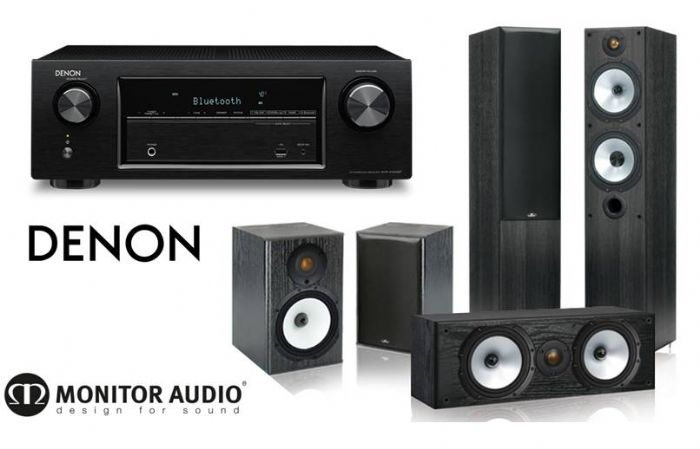 קולנוע ביתי Denon AVRX550+Monitor Audio MR Pack