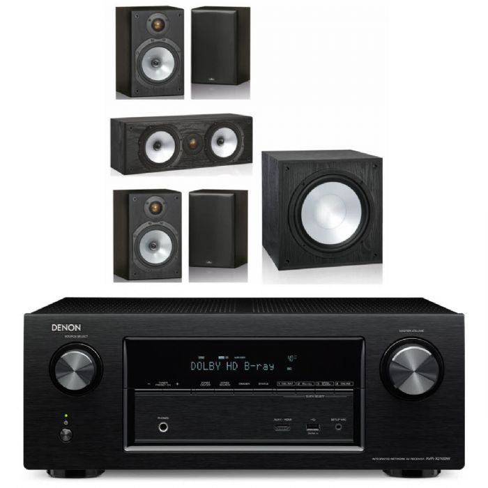 קולנוע ביתי Denon AVRX550+Monitor Audio MR Set+Morel Sub