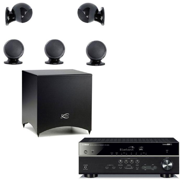 קולנוע ביתי Yamaha RXV385+Cabasse Alcyone 2 set