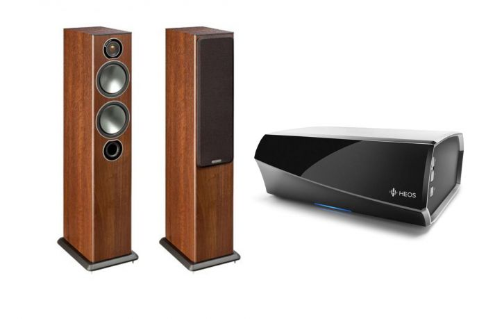 מערכת סטריאו Heos Amp+Monitor Audio Bronze5