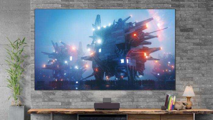 מקרן Epson EH-LS500 4K-UHD+מסך הקרנה קבוע XYScreen Gray 100 inches
