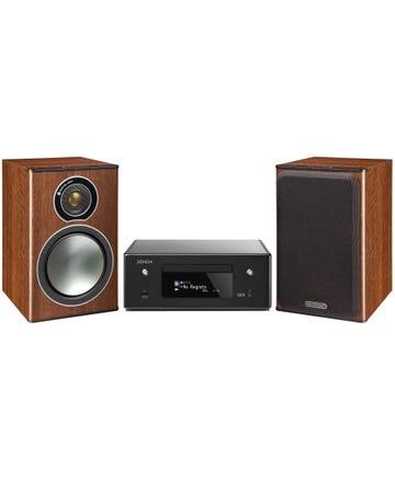 מערכת סטריאו Denon CEOL N-10+Monitor Audio Bronze 1