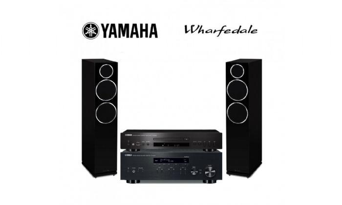 מערכת סטריאו yamaha RN301+Yamaha cds300+Wharfedale Quartz Q7
