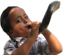 ילד תימני תוקע בשופר