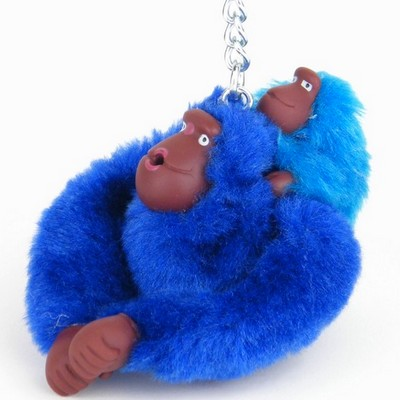 מחזיק מפתחות קוף כחול דיו ותינוק תכלת קיפלינג