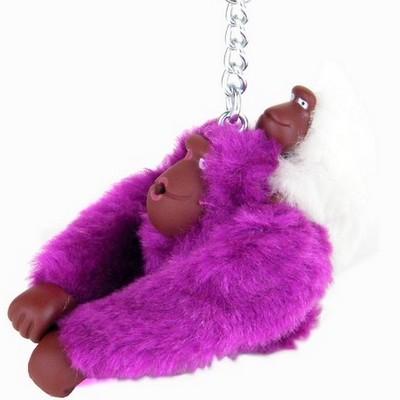 מחזיק מפתחות קוף סגול ותינוק לבן קיפלינג