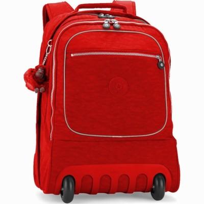 תיקים לבית הספר על גלגלים קיפלינג סוביין גדול אדום