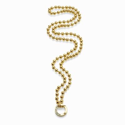 """שרשרת אופנה סאשה דיסקית 6 מ""""מ זהב"""