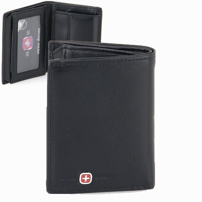 ארנקים לגברים סוויס קטן 6 כרטיסים שטרות ומטבעות שחור