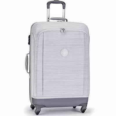 מזוודה חזקה מעוצבת קיפלינג סופר הייבריד גדולה אפור פסים